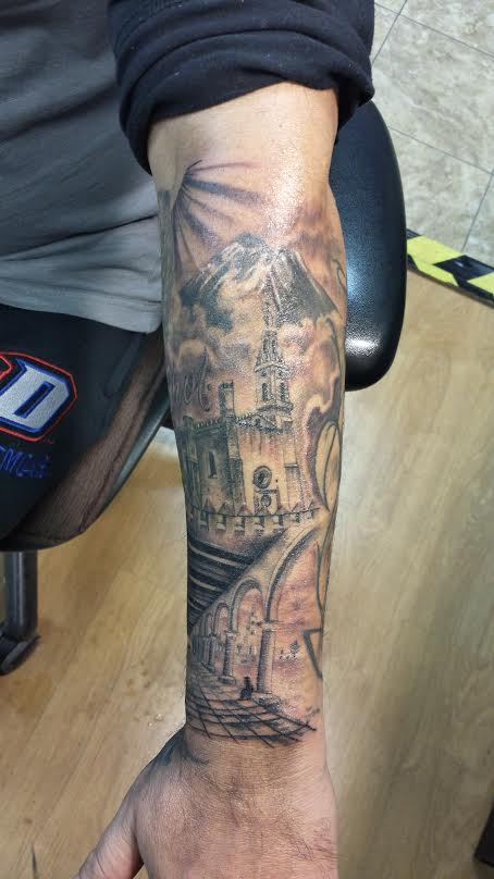 architecture-tattoo